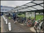 Garage à vélo au campus de Poitiers