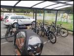 Stationner à vélo sur le campus