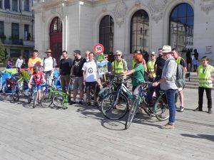 Sortie vélo avec les élus de grand Poitiers - 14 octobre 2017